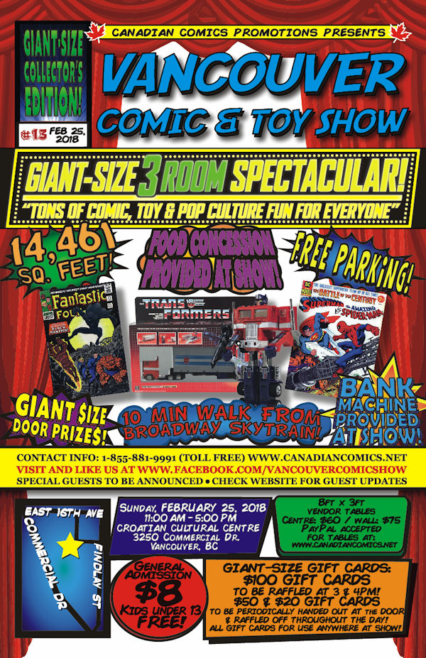 Vancouver Comic and Toy Show 13 Flyer