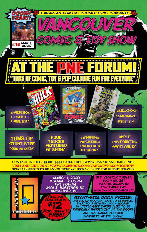 Vancouver Comic and Toy Show 18 Flyer